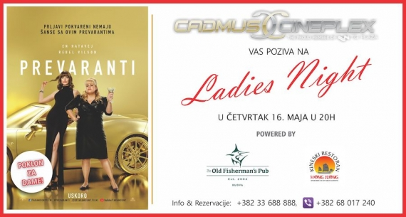 Ladies Night 16. maja u 20h uz novu komediju Prevaranti