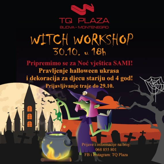 Witch workshop za klince u TQ plazi